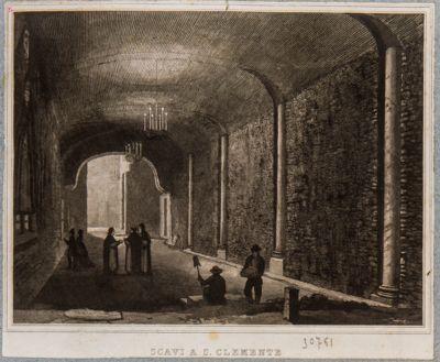 Chiesa di S. Clemente, basilica inferiore, scavi