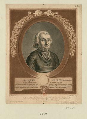 Jacques Jallet, curé de Chevigne, né à la Mothe St Heraye en Poitou le 13 X.bre 1732 l'un des trois curés du Poitou qui ont préparé l'union des ordres en se rendant les premiers à l'Assemblée nationale... : [estampe]