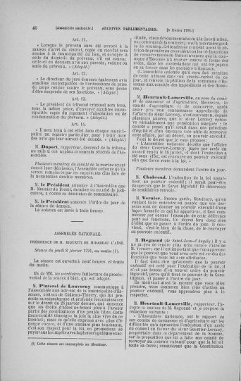 Tome 23 : Du 6 février au 9 mars 1791 - page 40