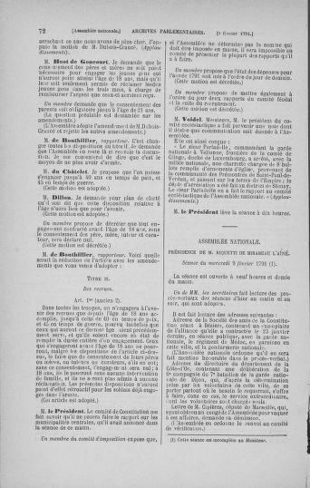 Tome 23 : Du 6 février au 9 mars 1791 - page 72