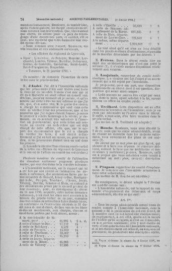 Tome 23 : Du 6 février au 9 mars 1791 - page 74