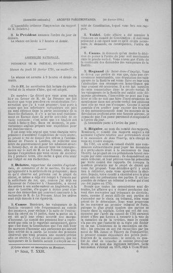 Tome 23 : Du 6 février au 9 mars 1791 - page 81