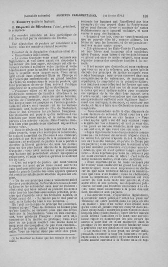Tome 23 : Du 6 février au 9 mars 1791 - page 109