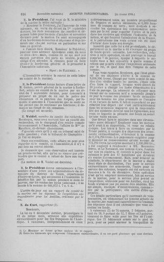 Tome 23 : Du 6 février au 9 mars 1791 - page 116