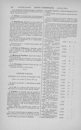 Tome 23 : Du 6 février au 9 mars 1791 - page 136