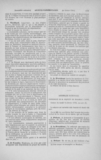 Tome 23 : Du 6 février au 9 mars 1791 - page 179
