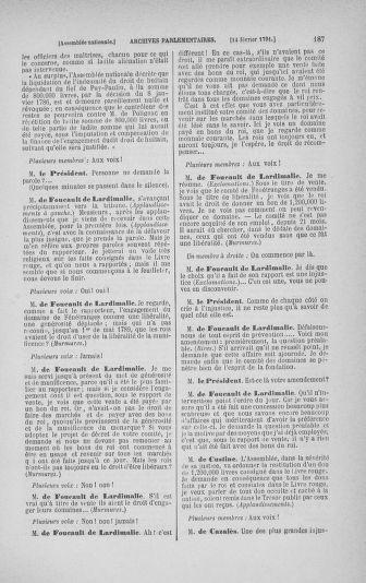 Tome 23 : Du 6 février au 9 mars 1791 - page 187