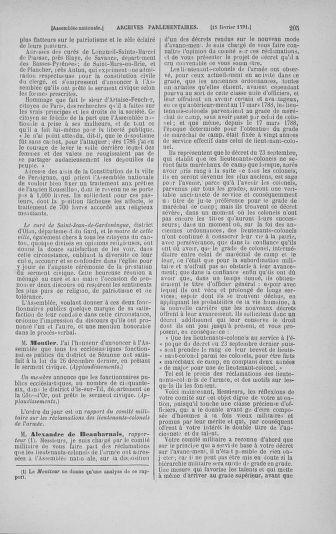 Tome 23 : Du 6 février au 9 mars 1791 - page 205
