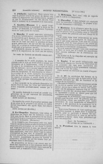 Tome 23 : Du 6 février au 9 mars 1791 - page 230