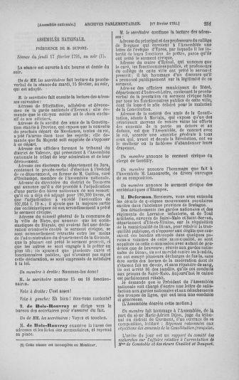 Tome 23 : Du 6 février au 9 mars 1791 - page 231