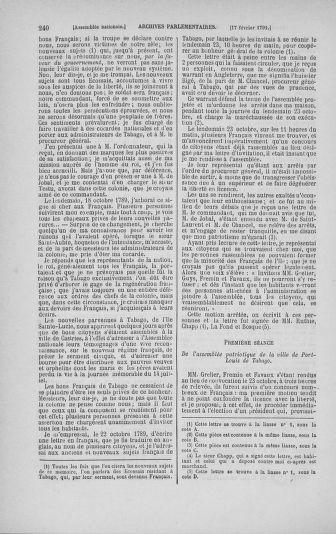 Tome 23 : Du 6 février au 9 mars 1791 - page 240