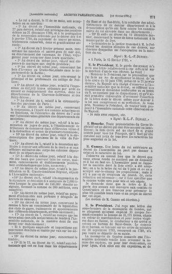 Tome 23 : Du 6 février au 9 mars 1791 - page 271