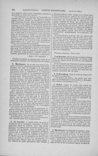 Tome 23 : Du 6 février au 9 mars 1791 - page 278
