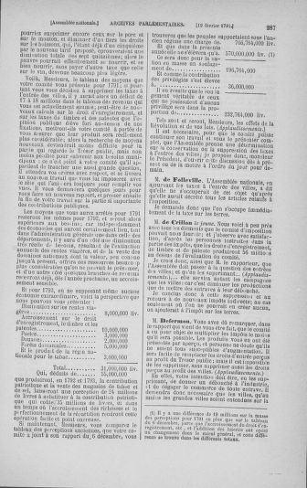 Tome 23 : Du 6 février au 9 mars 1791 - page 287