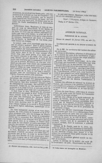 Tome 23 : Du 6 février au 9 mars 1791 - page 296