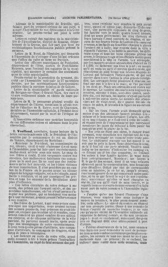 Tome 23 : Du 6 février au 9 mars 1791 - page 297