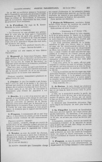 Tome 23 : Du 6 février au 9 mars 1791 - page 397