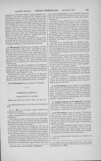 Tome 23 : Du 6 février au 9 mars 1791 - page 405