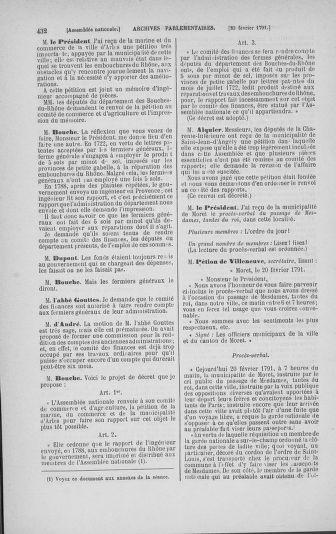Tome 23 : Du 6 février au 9 mars 1791 - page 432