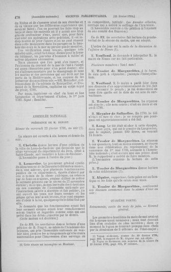 Tome 23 : Du 6 février au 9 mars 1791 - page 470