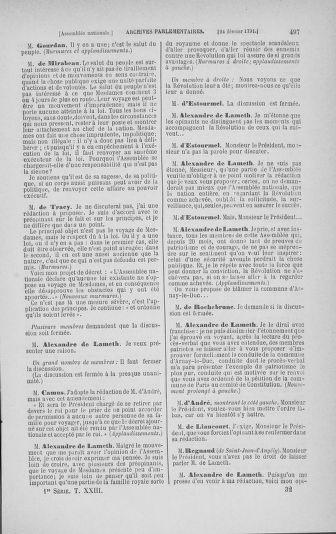 Tome 23 : Du 6 février au 9 mars 1791 - page 497