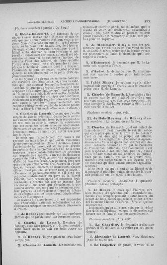 Tome 23 : Du 6 février au 9 mars 1791 - page 499
