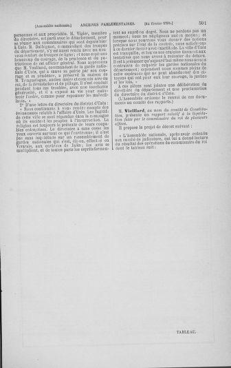 Tome 23 : Du 6 février au 9 mars 1791 - page 501