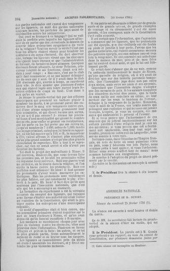 Tome 23 : Du 6 février au 9 mars 1791 - page 504