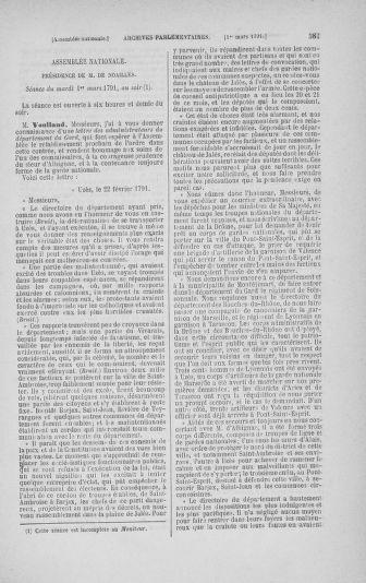Tome 23 : Du 6 février au 9 mars 1791 - page 587