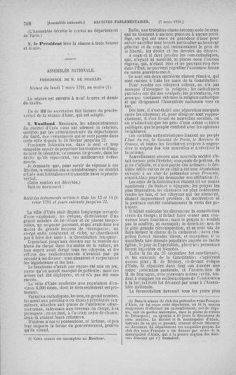Tome 23 : Du 6 février au 9 mars 1791 - page 708