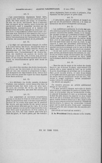 Tome 23 : Du 6 février au 9 mars 1791 - page 765