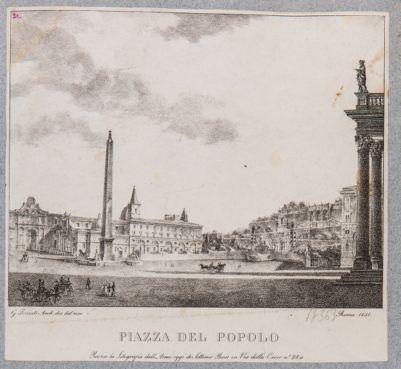 Piazza del Popolo con sfondo di S. Maria del Popolo