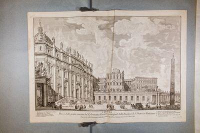 Chiesa di S. Pietro in Vaticano, facciata vista di scorcio