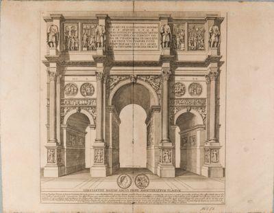 Arco di Costantino, veduto di prospetto da ovest