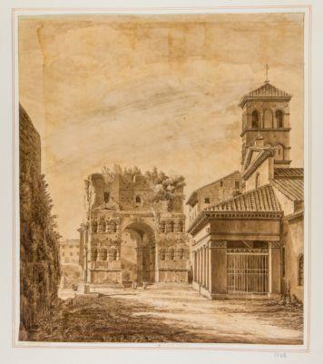 Arco di Giano, veduta da levante, Foro Boario