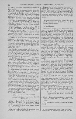 Tome 69 : Du 15 au 29 juillet 1793 - page 32