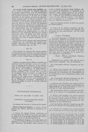Tome 69 : Du 15 au 29 juillet 1793 - page 60