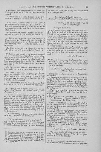 Tome 69 : Du 15 au 29 juillet 1793 - page 61