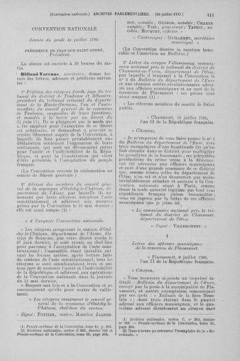 Tome 69 : Du 15 au 29 juillet 1793 - page 111