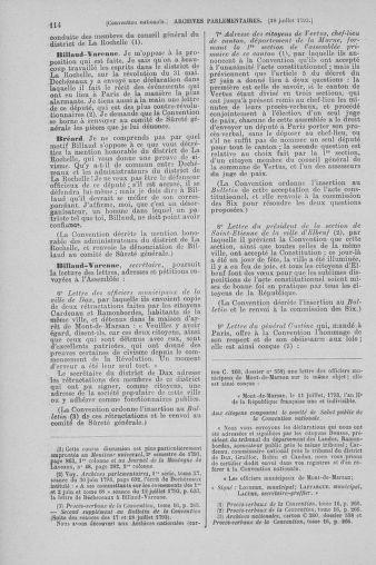 Tome 69 : Du 15 au 29 juillet 1793 - page 114