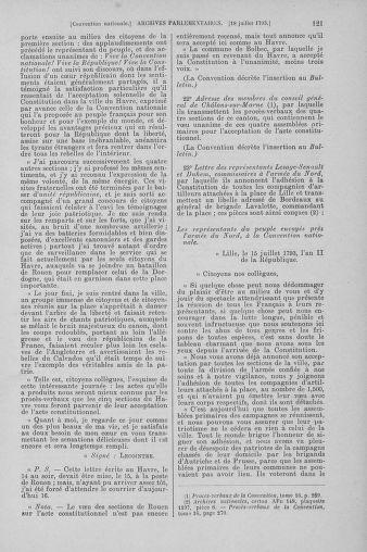 Tome 69 : Du 15 au 29 juillet 1793 - page 121