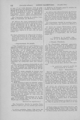 Tome 69 : Du 15 au 29 juillet 1793 - page 162