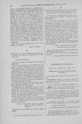 Tome 69 : Du 15 au 29 juillet 1793 - page 210