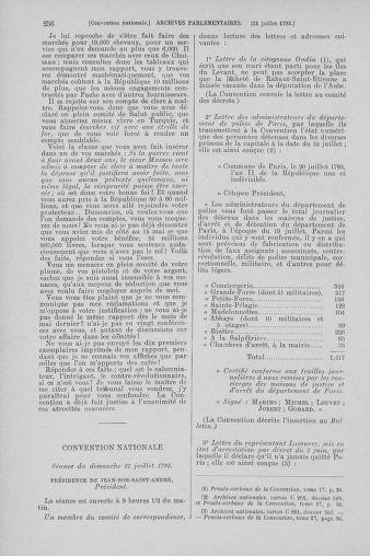 Tome 69 : Du 15 au 29 juillet 1793 - page 256
