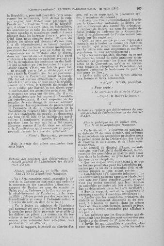 Tome 69 : Du 15 au 29 juillet 1793 - page 265