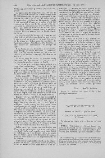 Tome 69 : Du 15 au 29 juillet 1793 - page 310