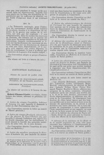 Tome 69 : Du 15 au 29 juillet 1793 - page 345
