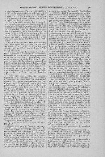Tome 69 : Du 15 au 29 juillet 1793 - page 347