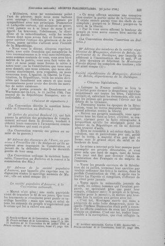 Tome 69 : Du 15 au 29 juillet 1793 - page 351