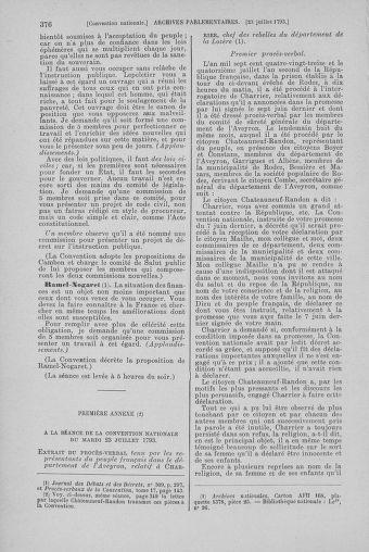 Tome 69 : Du 15 au 29 juillet 1793 - page 376
